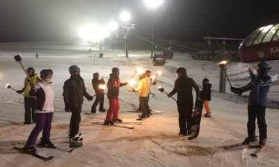 Erciyes'te gece kayağı bir başka deneyim