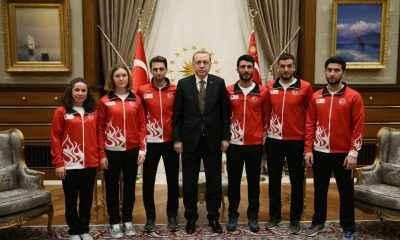 Erdoğan, 2018 Kış Olimpiyatları'na katılacak Türk sporcuları kabul etti