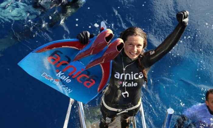 Derya Can, Salda Gölü'nde dünya rekoru kırdı