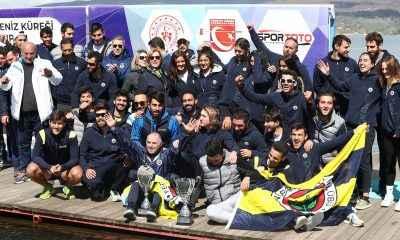 Kürekte kupa Fenerbahçe'nin