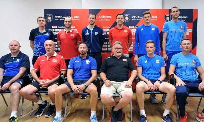 2019 CEV Erkekler Avrupa Voleybol Şampiyonası  Medya Günü Ljubljana'da yapıldı
