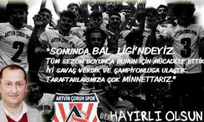 Artvin Çoruhspor Bal Ligi'nde!