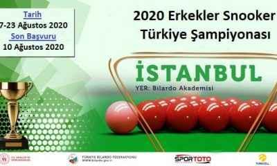 Türkiye Snooker Şampiyonası, İstanbul'da yapılacak