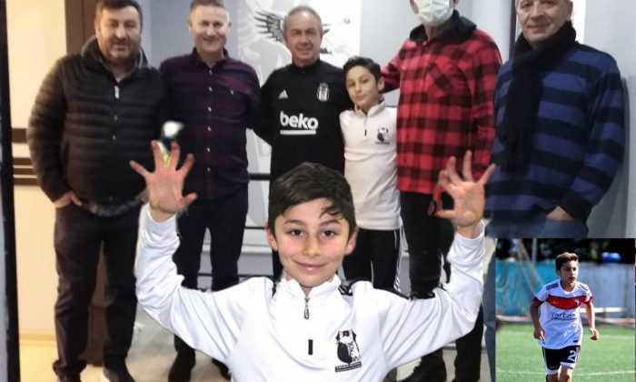12 Yaşındaki futbolcu Beşiktaş'a transfer oldu