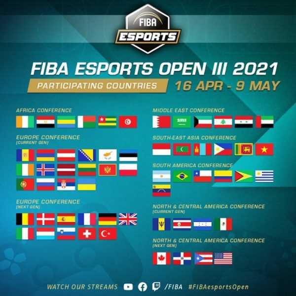 FIBA Espor Acik 3 Ulkeler