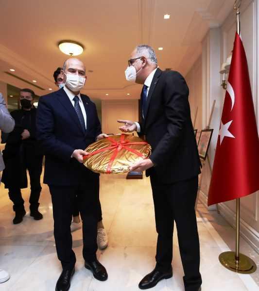 Icisleri Bakani Suleyman Soylu TVF Baskani Mehmet Akif Ustundag