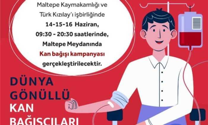 Maltepe Meydanında Kan Bağışı Kampanyası