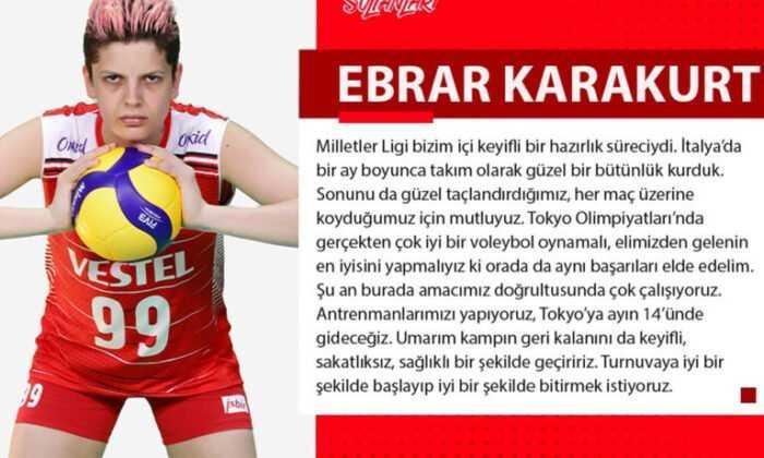 """Ebrar Karakurt: """"Tokyo Olimpiyatları'nda Elimizden Gelenin En İyisini Yapmalıyız"""""""