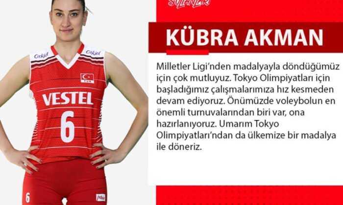 """Kübra Akman: """"Umarım Tokyo Olimpiyatları'ndan da Madalya ile Döneriz"""""""