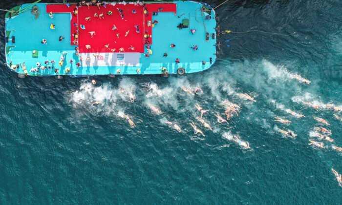 33. Samsung Boğaziçi Kıtalararası Yüzme Yarışı Yapıldı