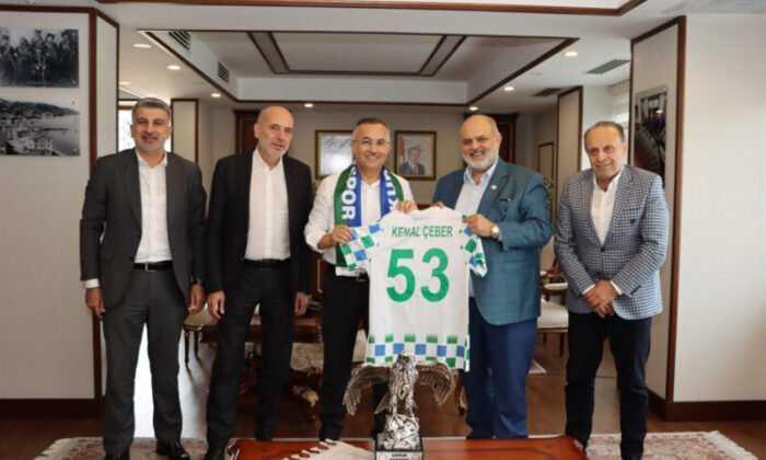 Çaykur Rizespor Yönetiminden Vali Kemal Çeber'e Ziyaret
