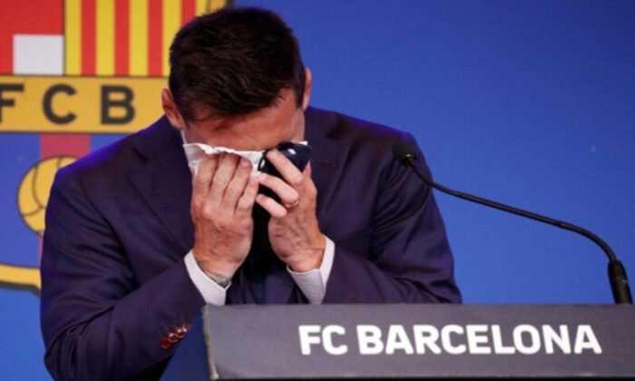 Messi, Barcelona'ya Gözyaşlarıyla Veda Etti
