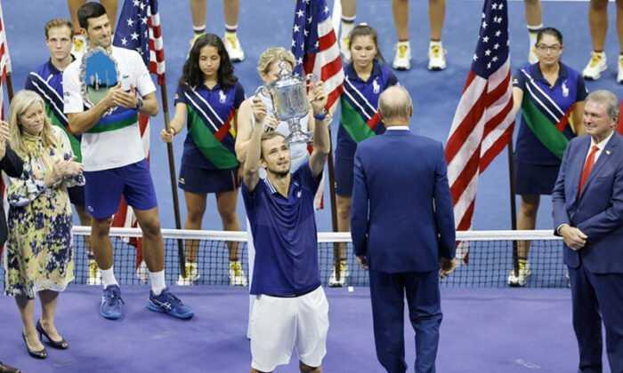 ABD Açık Tenis Turnuvası Tek Erkeklerde şampiyon Medvedev