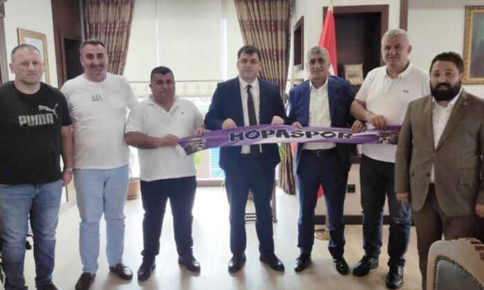 Artvin Hopaspor Yönetimi Ziyaretlerine Devam Ediyor
