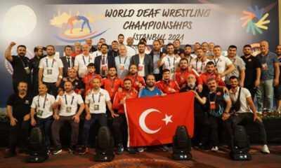 İşitme Engelli Güreş Şampiyonası'nda Madalya Geldi