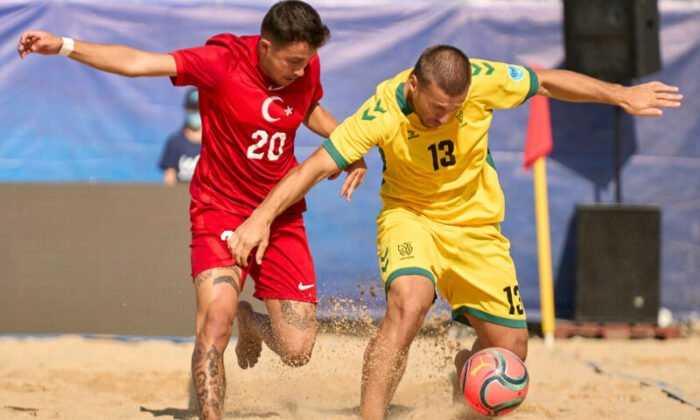 Plaj Futbolu Milli Takımı Litvanya'ya 3-0 Yenildi