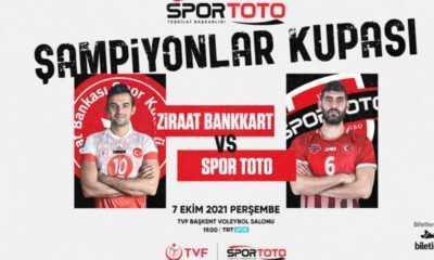 Erkekler Spor Toto Şampiyonlar Kupası'nda Geri Sayım Başladı