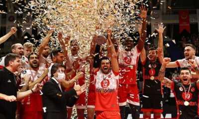 Voleybolda Spor Toto Şampiyonlar Kupası Ziraat Bankkart'ın
